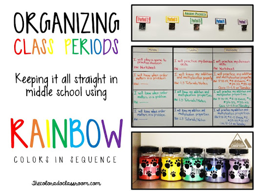 Organizing Class Periods Using Rainbow Colors in Sequence
