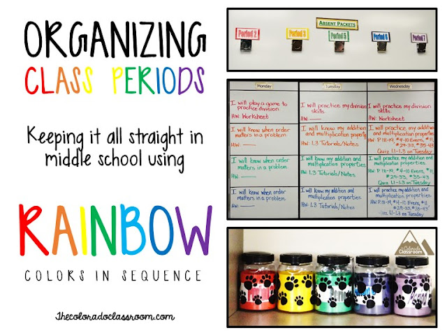 Organizing Using Rainbow Colors in Sequence