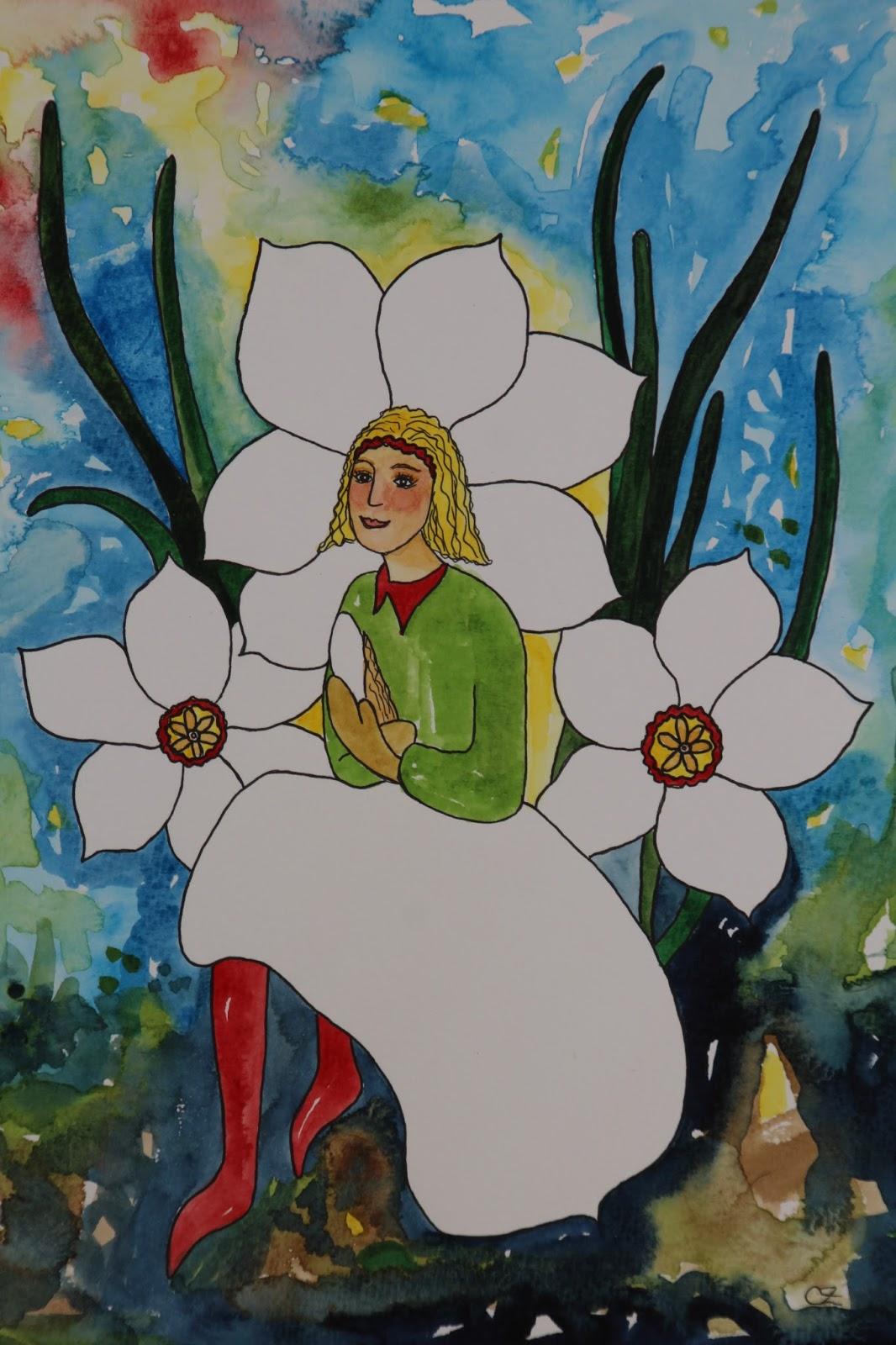 pingstlilja akvarell carolin zander