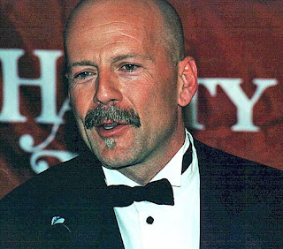 Bruce Mustache with Bald Head