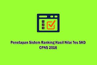 Penetapan Sistem Ranking Hasil Nilai Tes SKD CPNS 2018