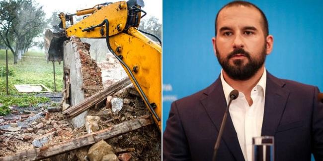 Τζανακόπουλος: Κατεδαφίζονται άμεσα 3.150 αυθαίρετα στην Αττική