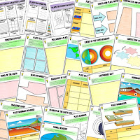 Earth's Layers and Plate Tectonics Activities, Earth Science Activities, Choice Boards, Digital Graphic Organizers