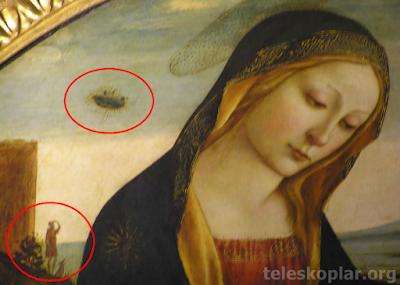La Madonna e san Giovannino ve ufo tablosu