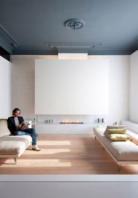 salon plafond gris