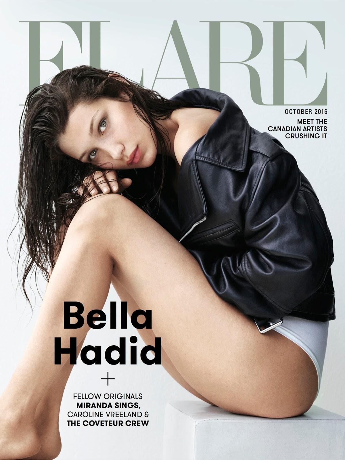 FLARE magazine October 2016 Bella Hadid