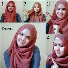 Tutorial Style Hijab Pashmina Sweet Knot