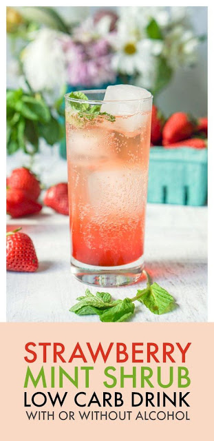 Strawberry Mint Shrub Drink (low carb)