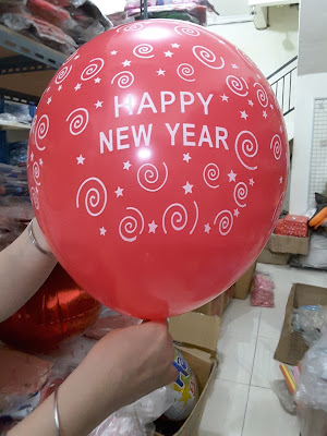 Balon Print Happy New Year