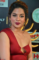 Natasha Nebasha in a Leg Slit Sleeveless Stunning Red Gown at IIFA Utsavam Awards 2017 009.JPG