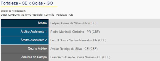 Felipe Gomes da Silva - PR apita Fortaleza x Goiás
