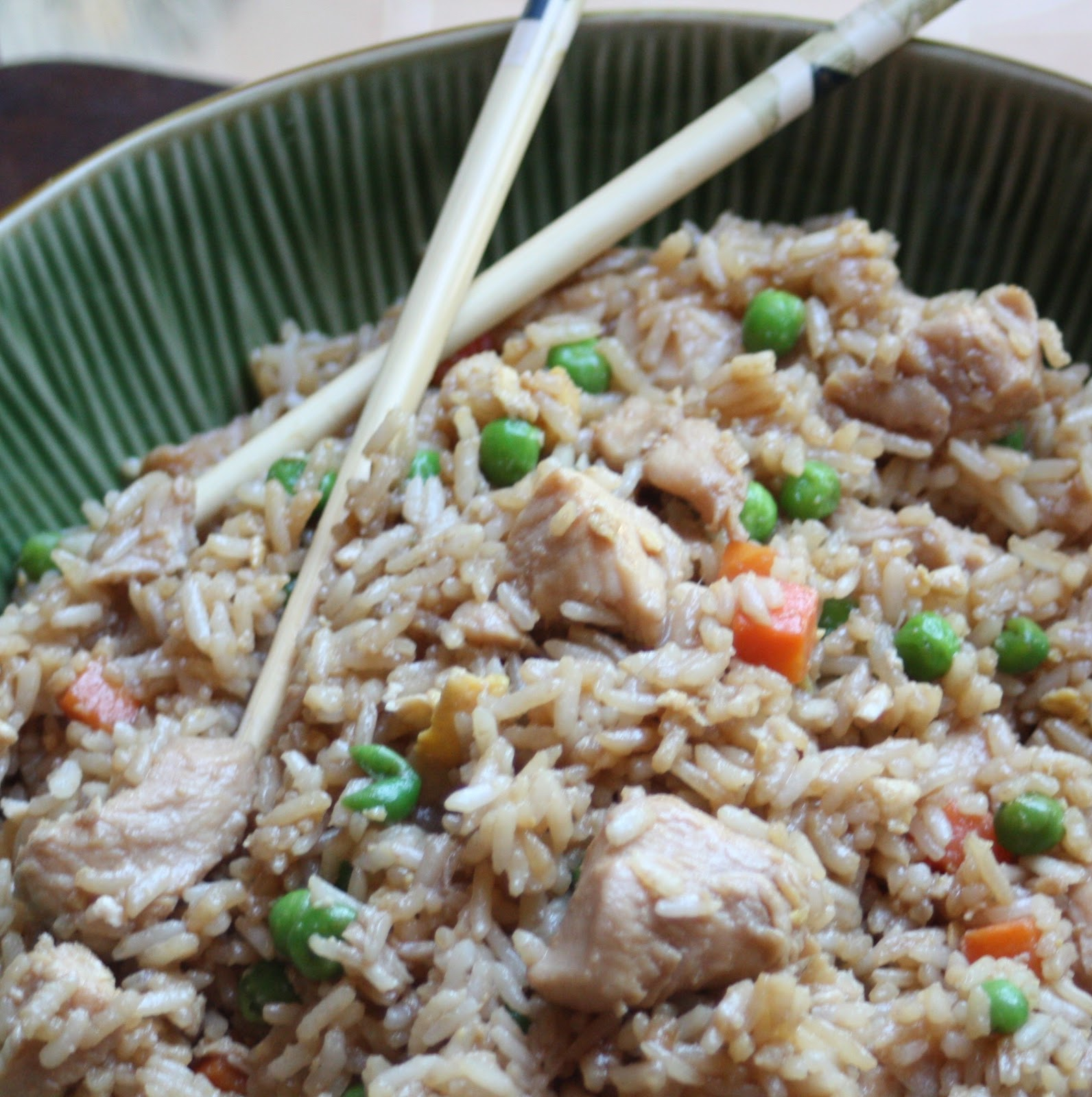 Paper Plates and China: Teryaki Chicken Fried Rice