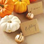 DIY Pumpkin Place Card Holders