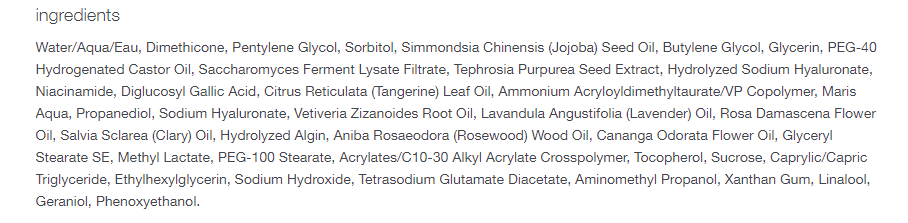Dermalogica Stress Positive Eye Lift- Ingredients