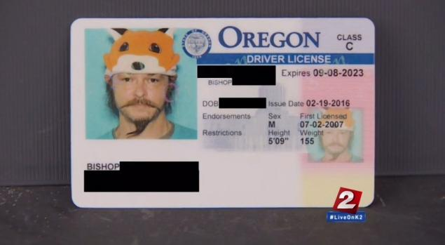 Oregon Man right to wear 'silly' fox hat in drivers license photo