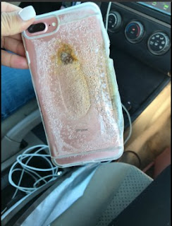 iPhone 7 plus explode and caught fire
