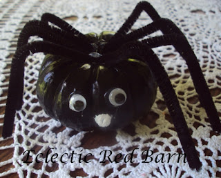 spider from mini pumpkin