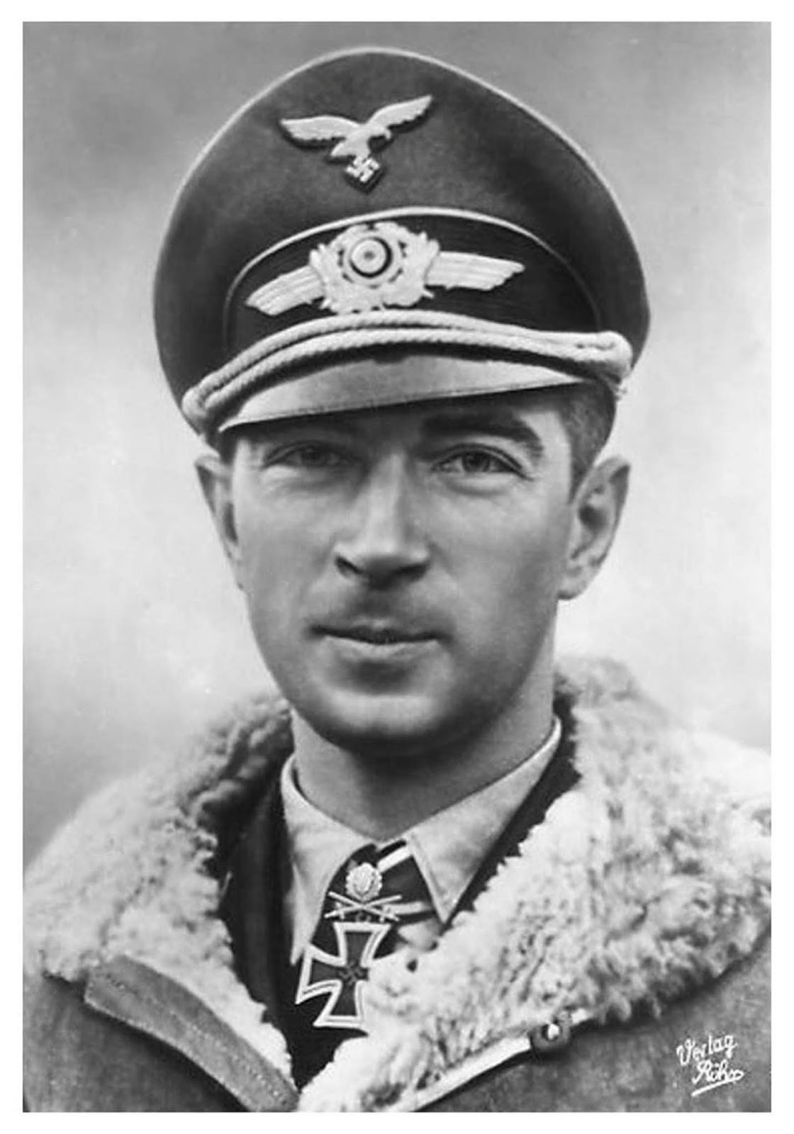 Werner Mölders led the Luftwaffe in victories during the Battle of Britain. Werner got along great with everyone and rose to command the Reich's fighter forces. He also knew how to wear a bomber jacket with style, and soften it with that puckish grin.