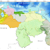 Lluvias con actividad Tormentosa en: Amazonas y sur de Bolívar.  Lloviznas dispersas en: Lara, Trujillo,   Táchira, Mérida, Zulia, este de Falcón, Aragua y Bolívar
