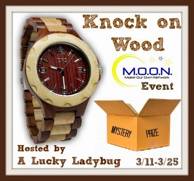 Enter the Knock on Wood Giveaway. Ends 3/25.