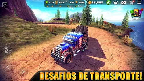 Off The Road - OTR Open World Driving.  Simulador de caminhão para Android