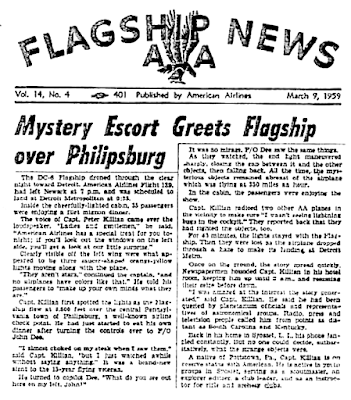 Mystery Escort Greets Flagship Over Philipsburg - Flagship News 3-9-1959