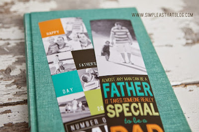 fathers day photo bookmark