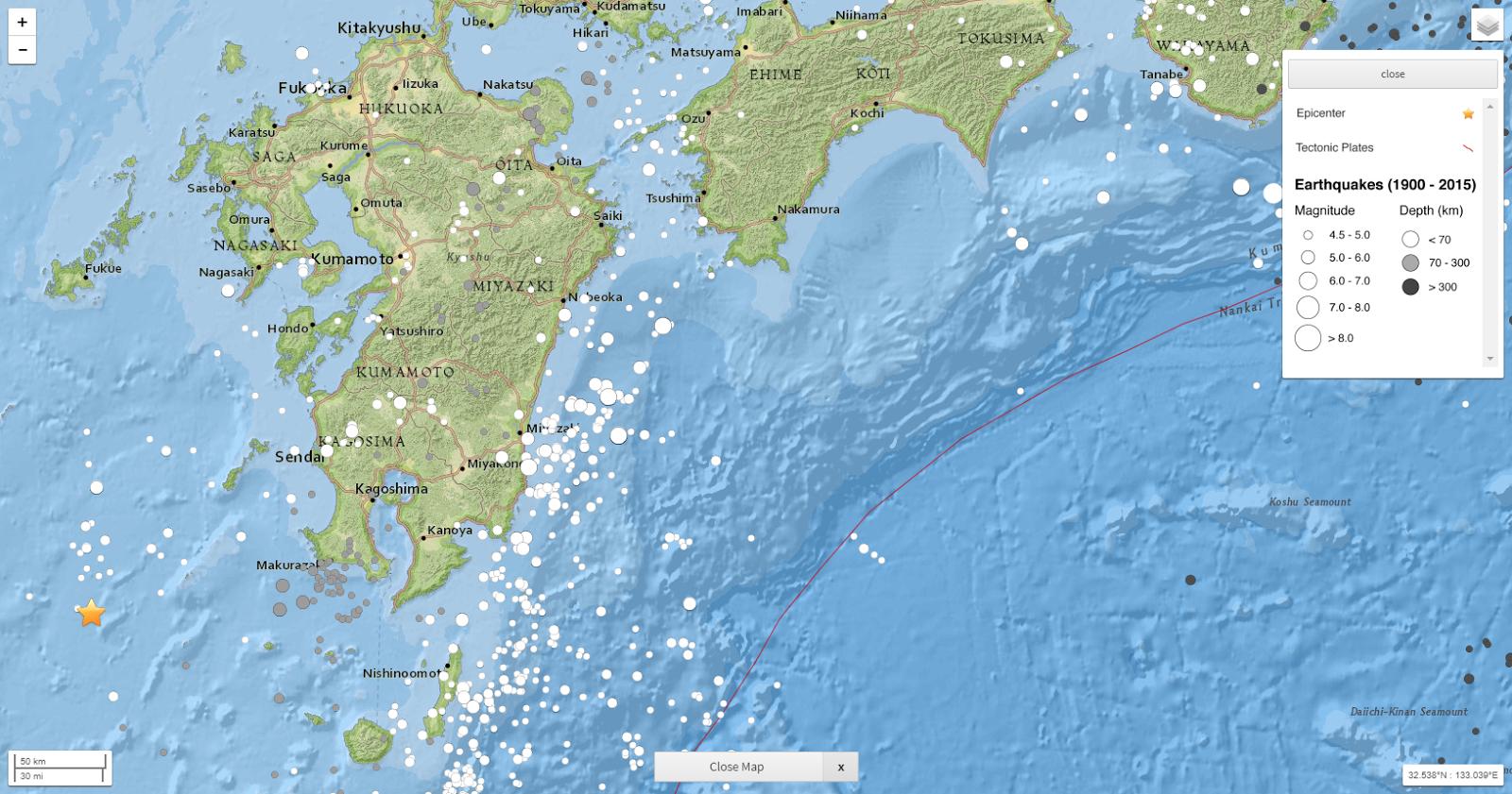 seismotectonics of area of southwestern japan around kagoshima earthquake of november 2015 u s geological survey usgs via usgs earthquake hazards