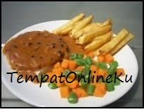 steak tempe saus lada hitam