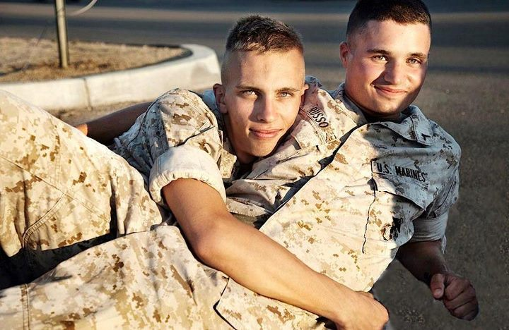 Gay Love Two Military