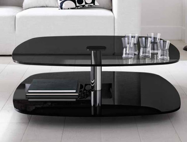 Artistic Black Coffee Table for Your Living Room