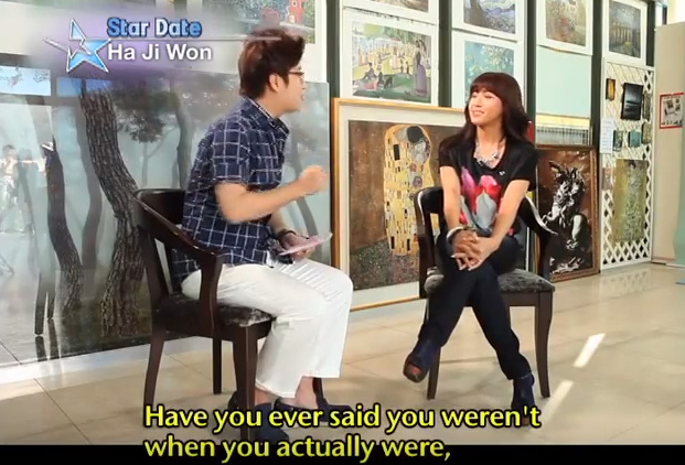 Ha JiWon have you ever said you werent when you actually were having boyfriend?