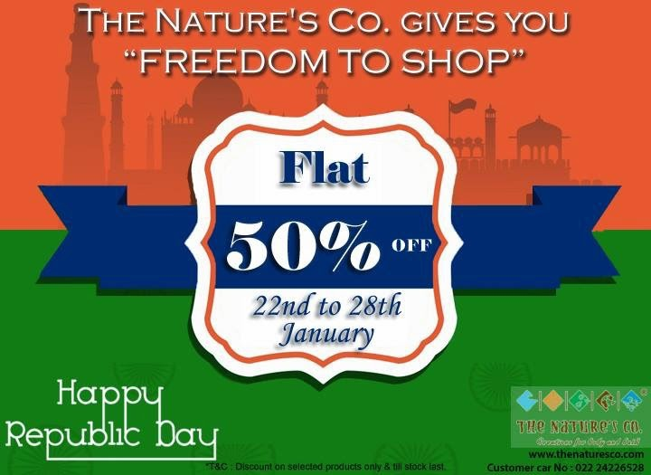 "The Nature's Co""Freedom to Shop"" FLAT 50% off ."