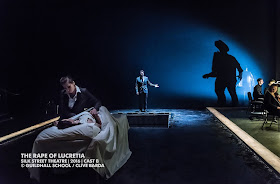 Elizabeth Karani, Karzyna Baljeko, Thomas Atkins - Britten's The Rape of Lucretia at Guildhall School - photo Clive Barda