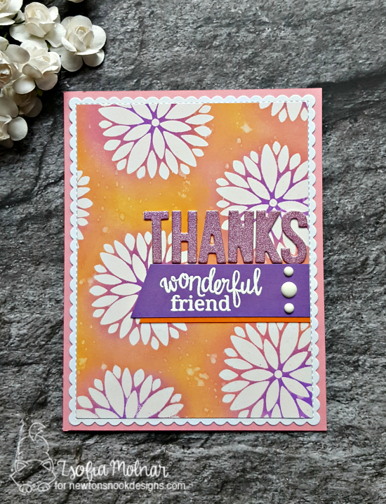 Thanks wonderful friend by Zsofia features Fanciful Florals by Newton's Nook, #newtonsnook