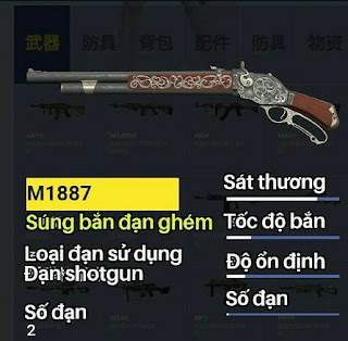 súng m1887 Rules of Survival