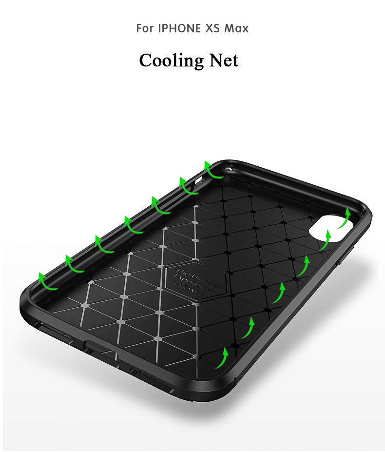 Bakeey Protective Case For iPhone XS Max Slim Carbon Fiber