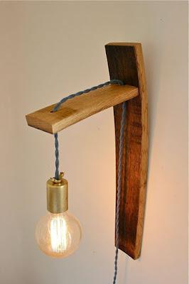 lámpara barril reciclado
