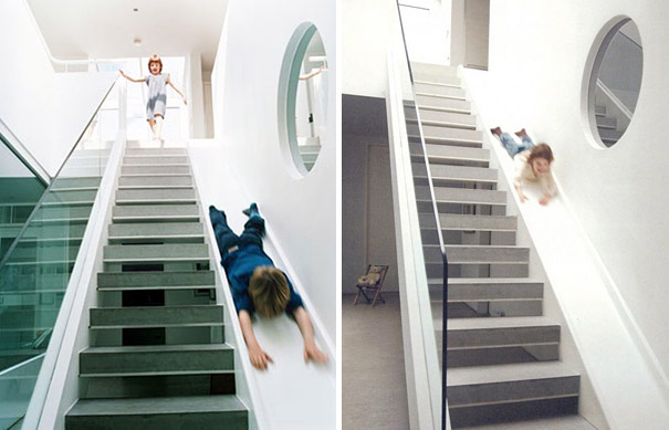 escalier moderne dans maison ancienne