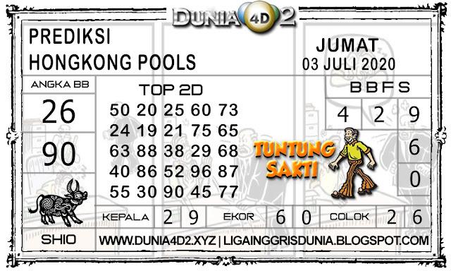 Prediksi Togel HONGKONG DUNIA4D2 03 JULI 2020
