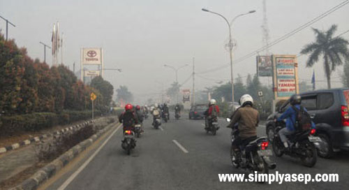 This photo was taken a few days ago on Ahmad Yani Street in Pontianak. Photo of Asep Haryono