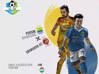 Susunan Pemain Persib Bandung vs Sriwijaya FC - Liga 1 Sabtu 4/8/2018