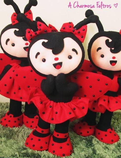 "alt=""Felt Ladybug Doll"""