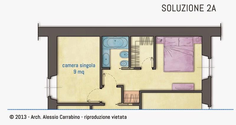 Alessio carrabino architetto una cabina armadio nella for Arredare camera da letto 9 mq