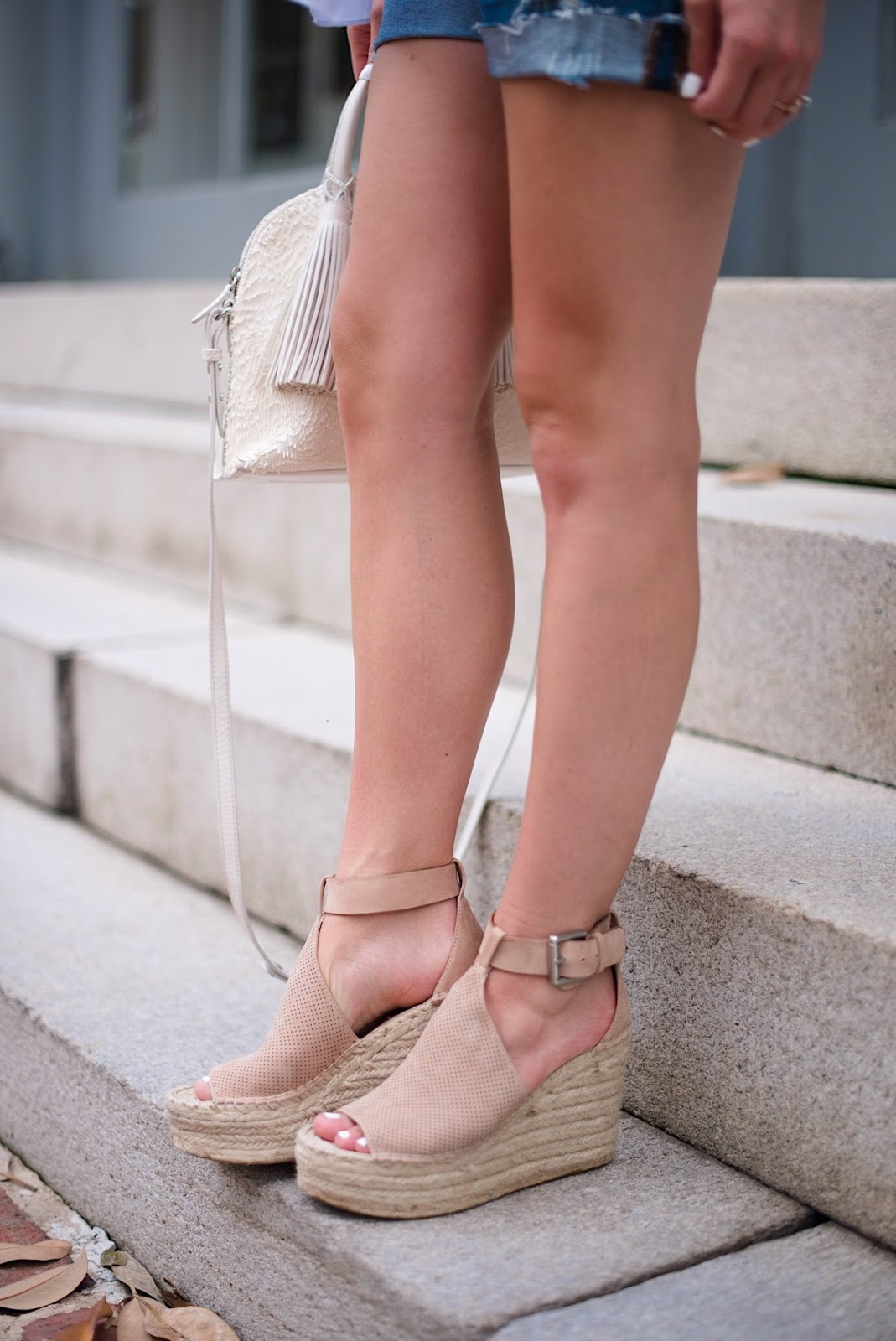 Marc Fisher Wedges - Click through to see more on Something Delightful Blog :)