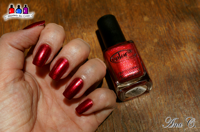 Color Club, Color Club winter affair, Berry and Bright, Glass Fleck