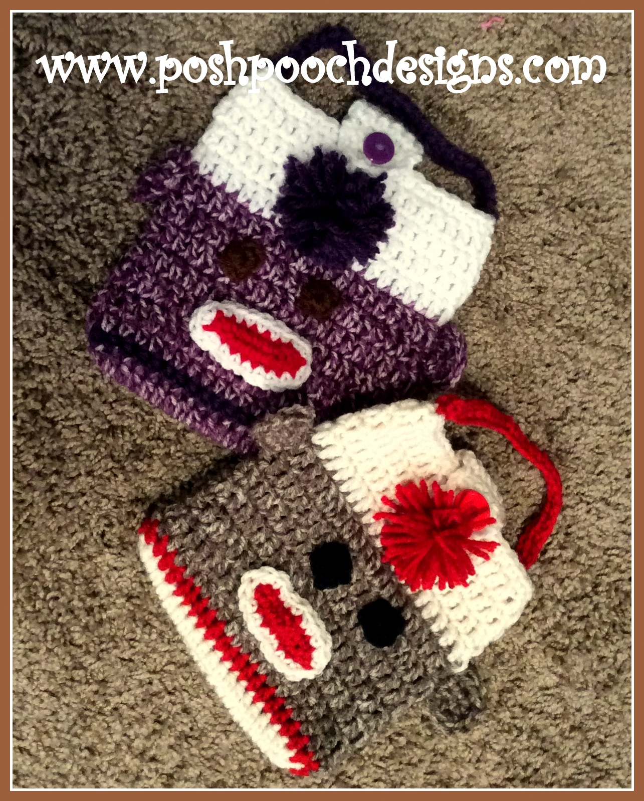 Posh Pooch Designs Dog Clothes Sock Monkey Purse Or Lunch Bag