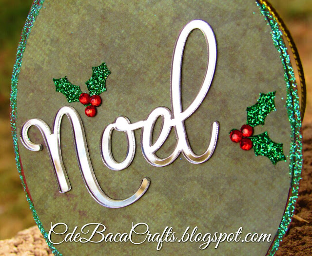 Christmas gift tag by CdeBaca Crafts.