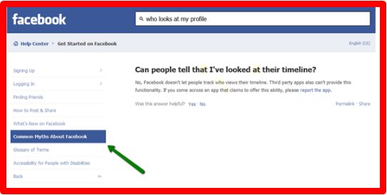 Can You See Who Looks At Your Facebook Profile