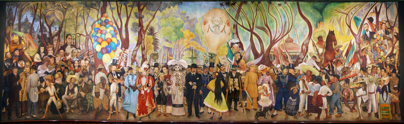 Sueño de una tarde dominical en la Alameda - Diego Rivera